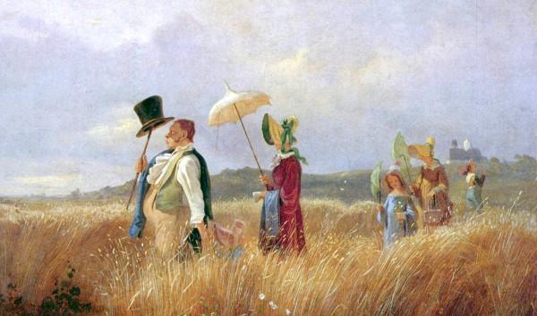 Der Sonntagsspaziergang von Carl Spitzweg